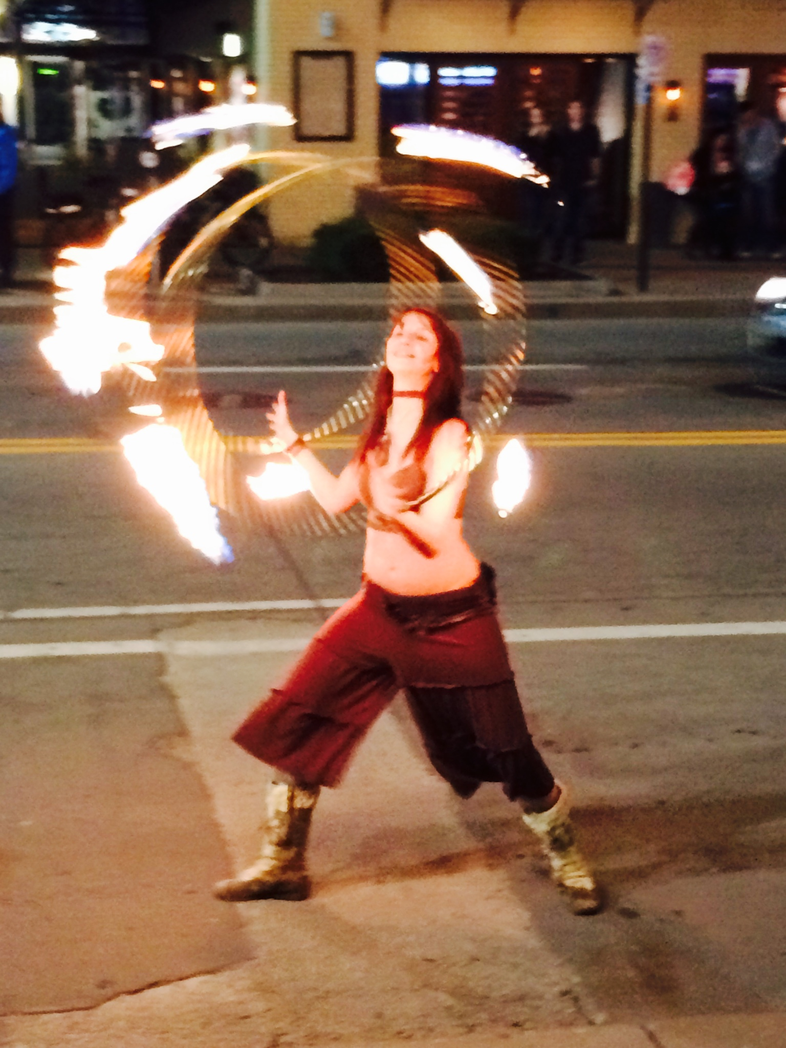 Lindsey Fire Spinning